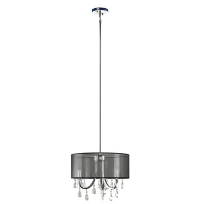 Devon 3-Light Drum Pendant Shade Color: Sheer Black