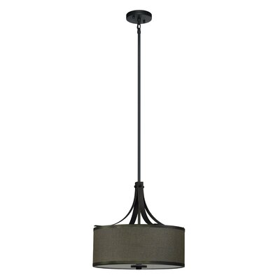 Pauline 3-Light Drum Pendant Finish: Ebony Bronze