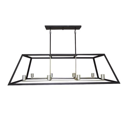 Mogos 8-Light Kitchen Island Pendant Finish: Ebony Bronze / Gold
