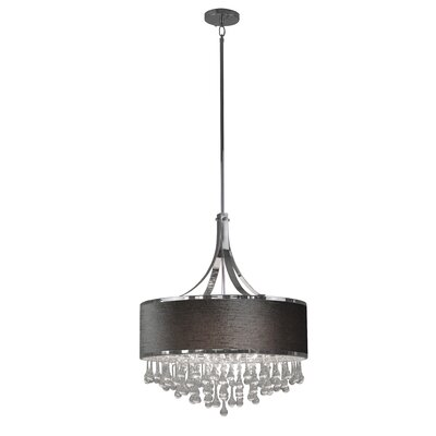 Mindy 6-Light Drum Pendant Shade Color: Gray
