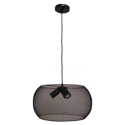 Peter 3-Light Drum Pendant Finish: Black