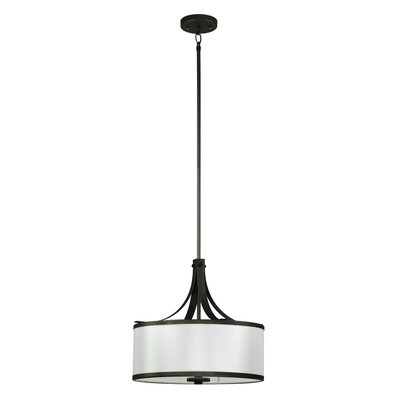 Pauline 3-Light Drum Pendant Finish: Old Silver