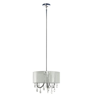 Devon 3-Light Drum Pendant Shade Color: Sheer White