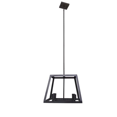 Qadira 4-Light Kitchen Island Pendant Finish: Ebony Bronze