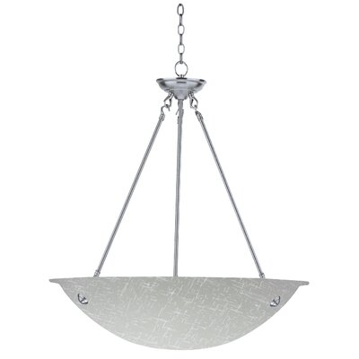 Auron 3-Light Inverted Pendant Finish: Chrome, Size: 60 H x 16 W x 16 D
