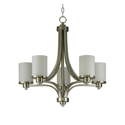Iris 5-Light Shaded Chandelier