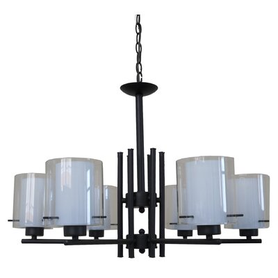 Dominic 6-Light Candle-Style Chandelier
