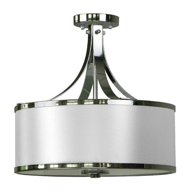 Pauline 3-Light Semi Flush Mount Shade Color: Pristine White