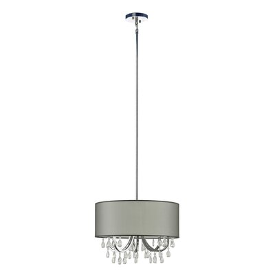 Devon 4-Light Drum Pendant Shade Color: Sheer Gray