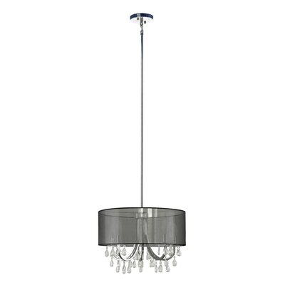 Devon 4-Light Drum Pendant Shade Color: Sheer Black