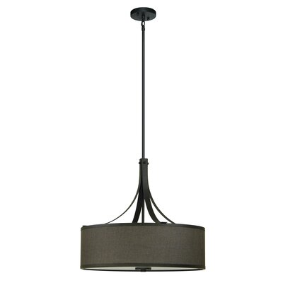 Pauline 4-Light Drum Pendant Shade Color: Ebony Bronze