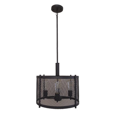 Glen 4-Light Drum Chandelier Finish: Ebony Bronze