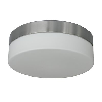 Felix 2-Light Flush Mount Finish: Satin Steel