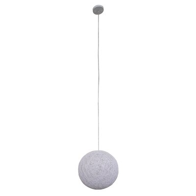 Philomena 1-Light Globe Pendant Shade color: White