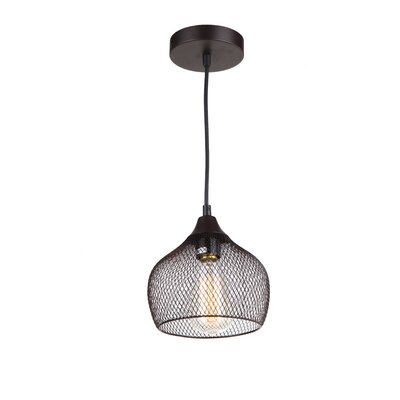 Alec 1-Light Bowl Pendant Finish: Ebony Bronze