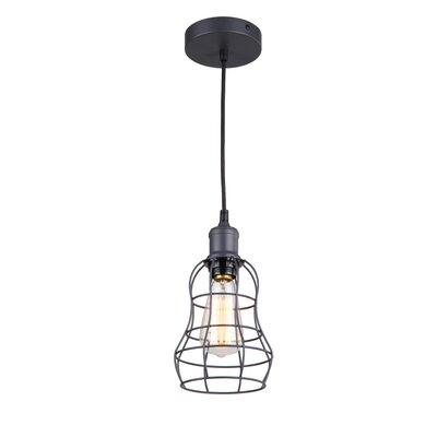 Ariel 1-Light Foyer Pendant Finish: Dark Gray