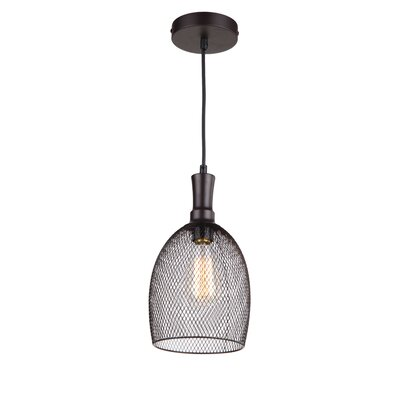 Alec 1-Light Mini Pendant Finish: Ebony Bronze