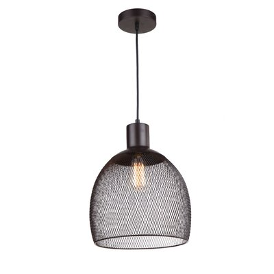 Alec 1-Light Mini Pendant Finish: Dark Gray