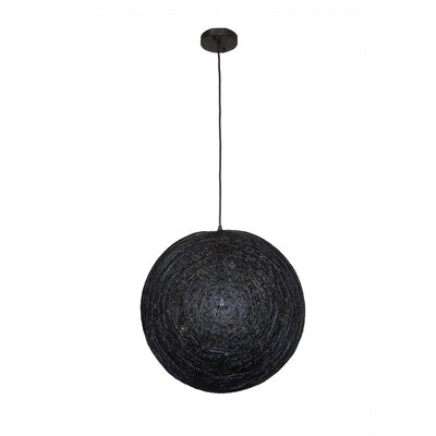 Philomena 1-Light Globe Pendant Shade color: Black