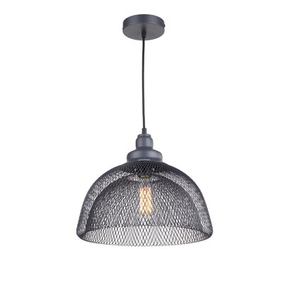 Alec 1-Light Bowl Pendant Finish: Dark Gray