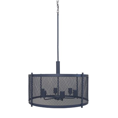 Glen 6-Light Drum Chandelier Finish: Dark Gray