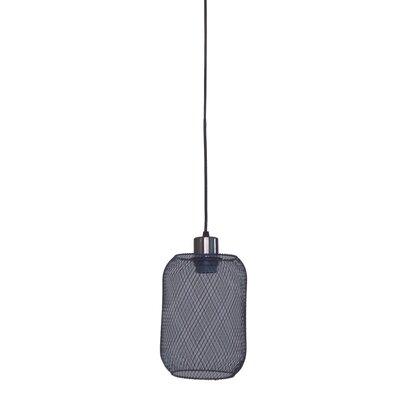 Peter 1-Light Mini Pendant Finish: Dark Gray