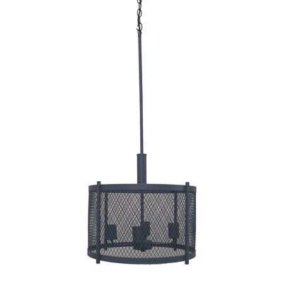 Glen 4-Light Drum Chandelier Finish: Dark Gray