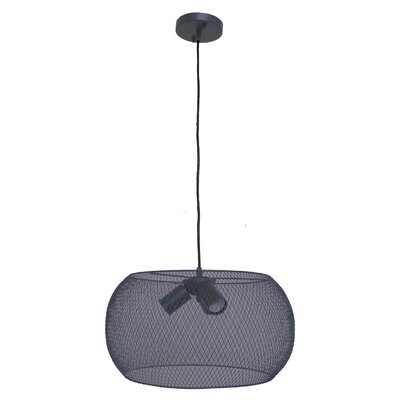 Peter 3-Light Drum Pendant Finish: Dark Gray