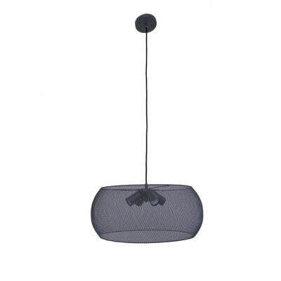 Peter 4-Light Drum Pendant Finish: Dark Gray