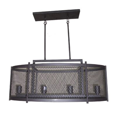 Glen 4-Light Kitchen Island Pendant Finish: Ebony Bronze