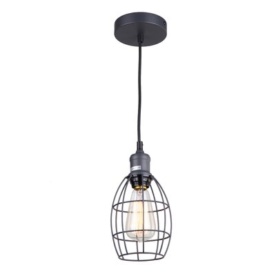 Ariel 1-Light Mini Pendant Finish: Dark Gray