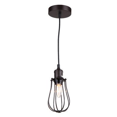 Ariel 1-Light Foyer Pendant Finish: Ebony Bronze