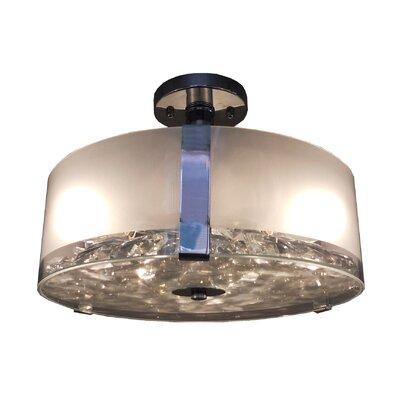 Sabrina 3-Light Semi Flush Mount Finish: Chrome