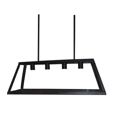 Murray 4-Light Kitchen Island Pendant Finish: Black