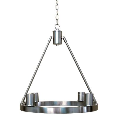 Berard 4-Light Candle-Style Chandelier Finish: Satin Steel
