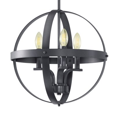 Aleria 3-Light Foyer Pendant Finish: Dark Gray