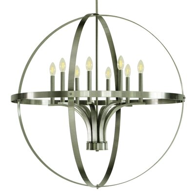 Aleria 8-Light Foyer Pendant Finish: Satin Steel
