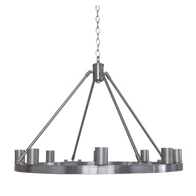 Berard 8-Light Candle-Style Chandelier Finish: Satin Steel