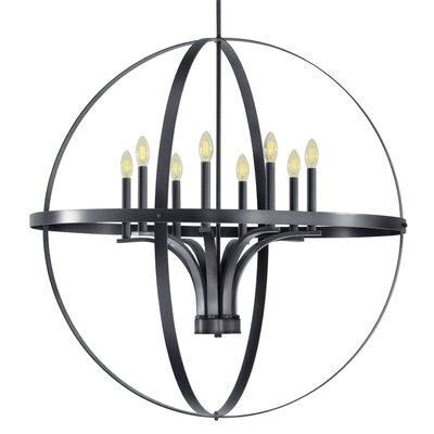 Aleria 8-Light Foyer Pendant Finish: Dark Gray
