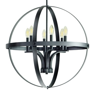 Aleria 6-Light Foyer Pendant Finish: Dark Gray