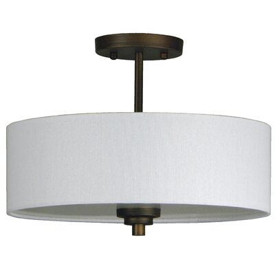 Robbinsville 3-Light Semi Flush Mount Finish: Oil Rubbed Bronze