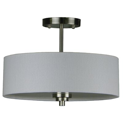 Lorie 3-Light Semi Flush Mount Finish: Satin Steel