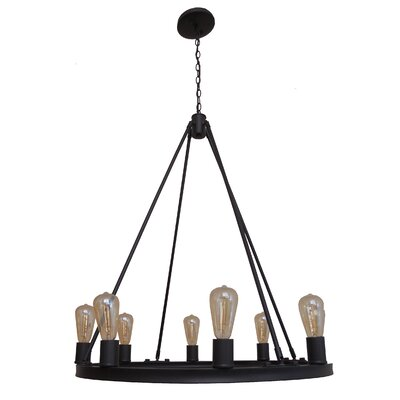 Berard 8-Light Candle-Style Chandelier Finish: Ebony Bronze