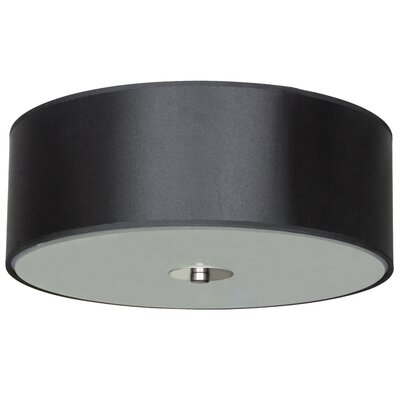 Calverton Fabric Shade 2-Light Flush Mount Shade Color: Black