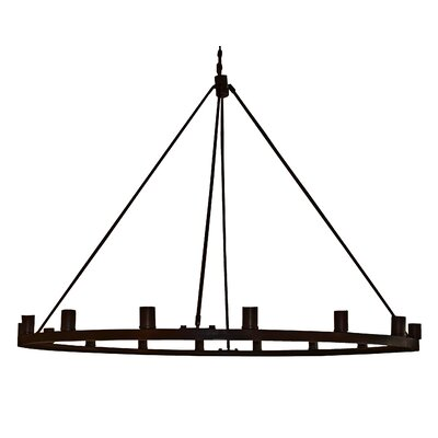 Gino 16-Light Candle-Style Chandelier Finish: Ebony Bronze