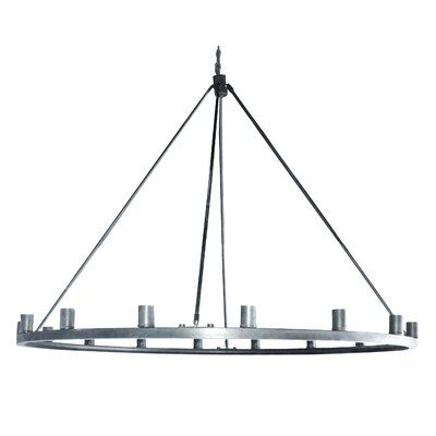Gino 16-Light Candle-Style Chandelier Finish: Satin Steel