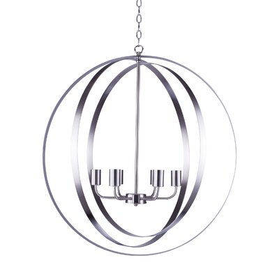 Blanchette 6-Light Globe Pendant Finish: Satin Steel
