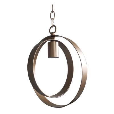 Blanchette 1-Light Geometric Pendant Finish: Gold Leaf