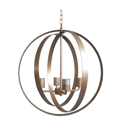 Blanchette 4-Light Globe Pendant Finish: Gold Leaf