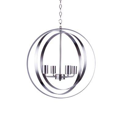 Blanchette 4-Light Globe Pendant Finish: Satin Steel